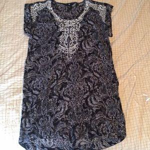 H&M Black Floral Tunic